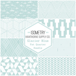 Isometry Fat Quarter Bundle in Glacier Blue
