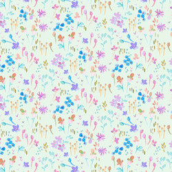 Butterfly Floral in Soft Clover