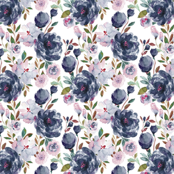 Little Peonies in Midnight