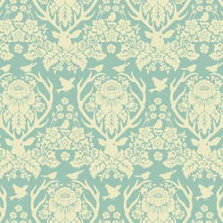Little Antler Damask in Sky Blue