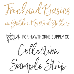 Freehand Basics Sample Strip in Golden Yellow Mustard