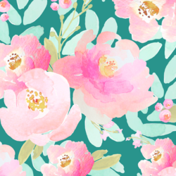 Plush Peonies in Jade