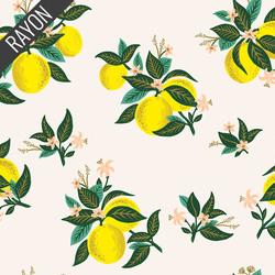 Citrus Blossom Rayon in Lemon