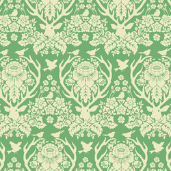Little Antler Damask in Green Tea
