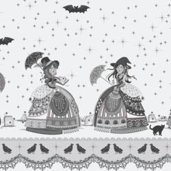 Witches Promenade Border in Noir