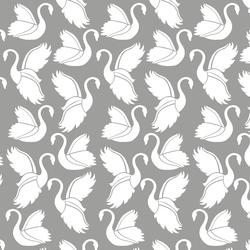 Swan Silhouette in Dark Pebble