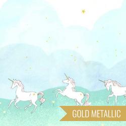 Unicorn Parade Double Border in Mint Metallic