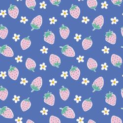Big Berry Picking in Cornflower Blue