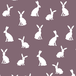 Cottontail Silhouette in Mulberry