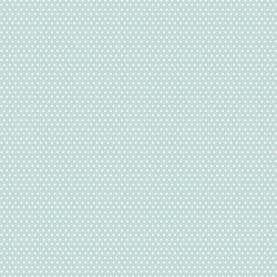 Small Winter Dot in White on Mint Green