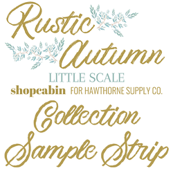Rustic Autumn Sample Strip Little Scale