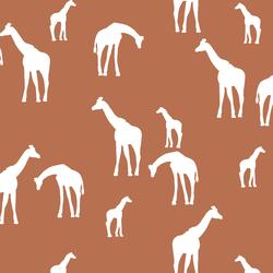 Giraffe Silhouette in Terracotta
