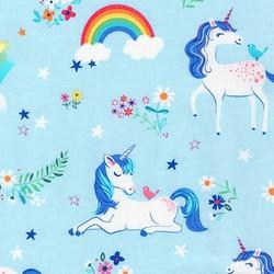 Happy Little Unicorns in Blue