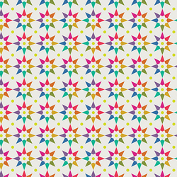 Rainbow Star in White