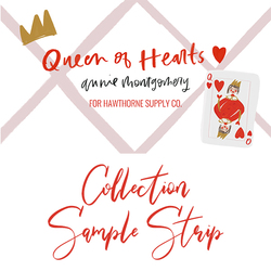 Queen of Hearts Sample Strip