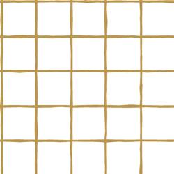 Windowpane in Marigold on White