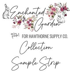 Enchanted Garden Sample Strip