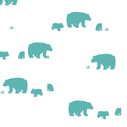 Bear Silhouette in Seafoam