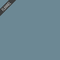 Flannel Solid in Retro Blue