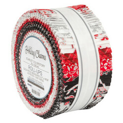 """Holiday Charms 2.5"""" Strip Roll in 2021 Scarlet Colorstory"""