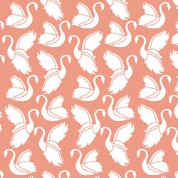 Swan Silhouette in Grapefruit