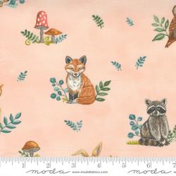 Woodland Animals in Blush