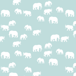 Elephant Silhouette in Glacier Blue