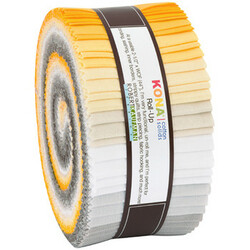 """Kona Solid 2.5"""" Strip Roll in Sunny Side Up"""