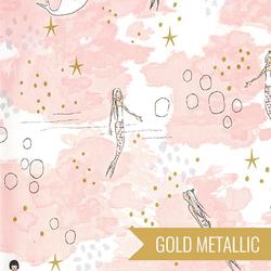 Mermaid Magic in Blossom Metallic