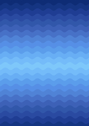 Wave Ombre in Mellow Blues