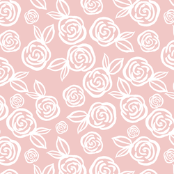Tea Roses in Powder Pink
