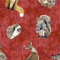 Tossed Animals in Red