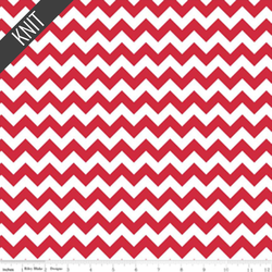 Small Chevron Knit in Red