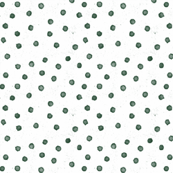 Splatter Dot in Bottle Green on White
