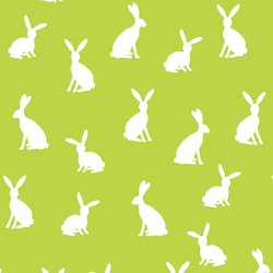 Cottontail Silhouette in Lime