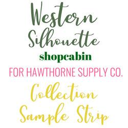 Western Silhouette Sample Strip