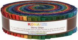 """Kona Solid 1.5"""" Strip Roll in Dark"""
