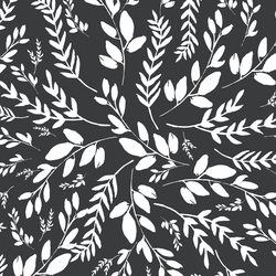 Wild Foliage in Dark Grey