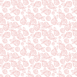 Little Tea Roses in Powder Pink on White