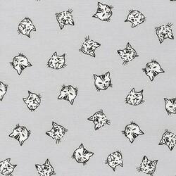 Cat Faces in Grey