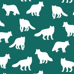Fox Silhouette in Emerald