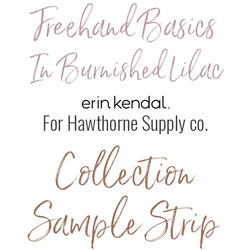 Freehand Basics Low Volume Sample Strip in Burnished Lilac