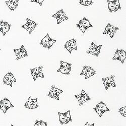 Cat Faces in White