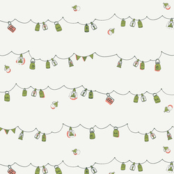 Playful Mini Bunting in White