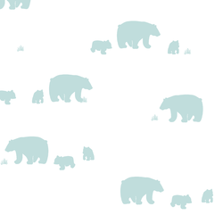 Bear Silhouette in Glacier Blue
