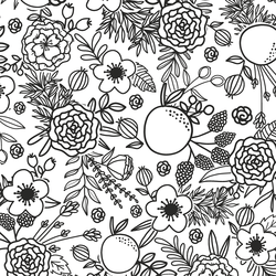 Floral Linework in Shadow
