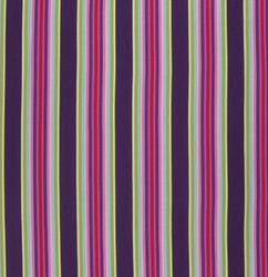 Tick Tock Stripe in Raspberry