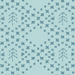 Fair Isle Forest in Glacier Blue