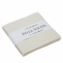 Bella Solids Charm Pack in Eggshell
