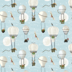 Christmas Balloon Ride in Ice Blue